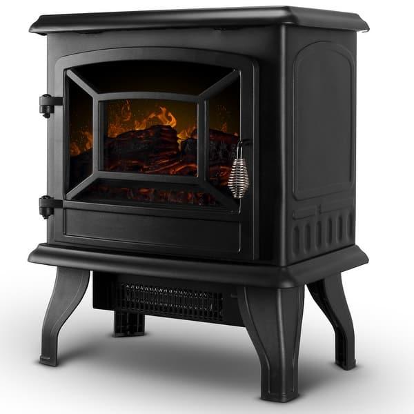 Shop Della 17 Freestanding Portable Electric Fireplace Stove