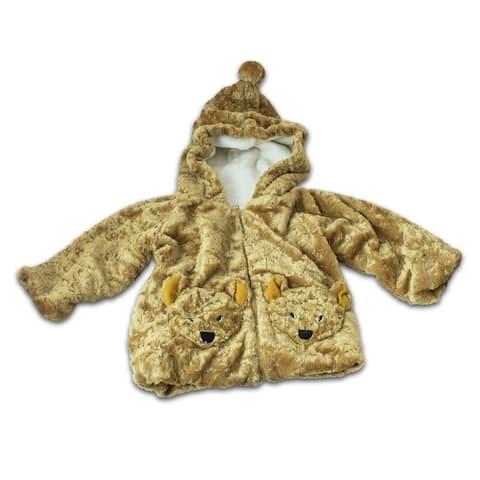 Fuzzy Wear Bear Hoodie, Brown, 18-24 Months