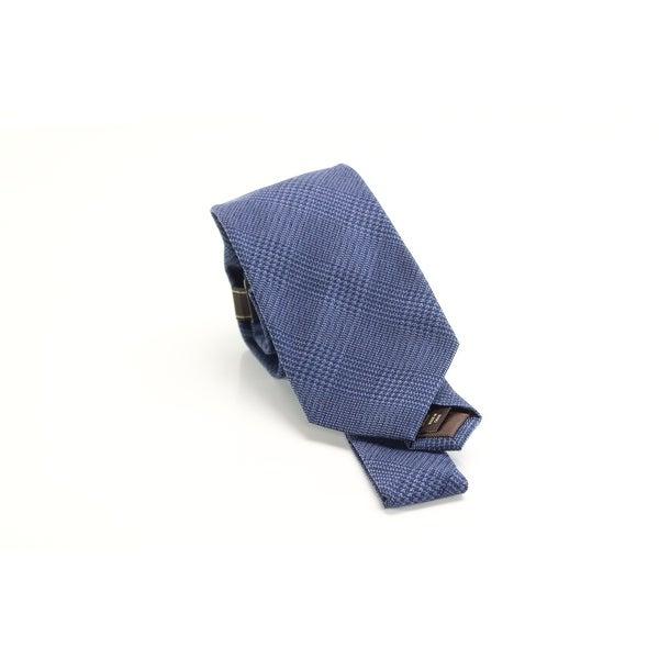 Tasso Elba Men's Neck Tie Blue One Size Fabrizio Plaid Skinny Wool