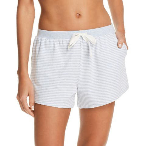 Natural Skin Womens Marin Sleep Short Organic Cotton Comfy - White/Blue Stripe