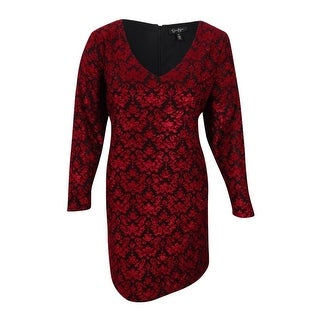Jessica Simpson Women's Trendy Plus Size Vera Fit & Flare Dress - Biking Red