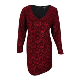 Jessica Simpson Women's Trendy Plus Size Vera Fit & Flare Dress - Biking Red