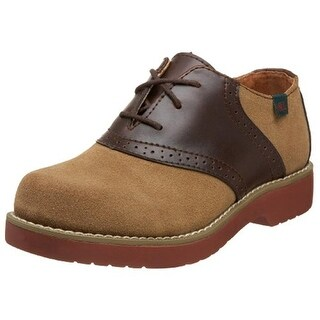 School Issue Girls Varsity Oxfords Saddle Leather - 3.5 wide (c,d,w)