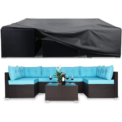 Extra Large Patio Furniture Cover Sectional Sofa Cover Wear Resistant - 128 x 83 x 28