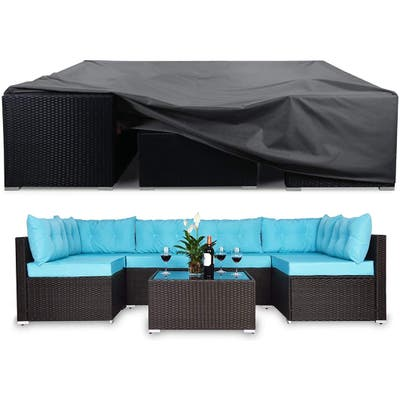 Patio Furniture Covers Heavy Duty 7-9 Pieces Outdoor Sectional Sofa Cover
