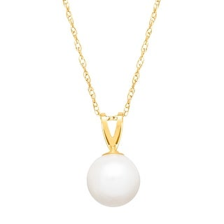 7.5 mm Freshwater Pearl Pendant in 14K Gold