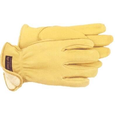 Boss 7185M Men's Lined Deerskin Gloves, Medium