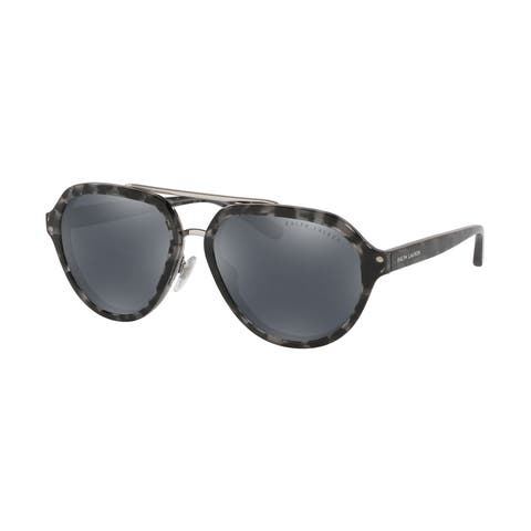 Ralph Lauren RL8174 57456G 57 Black Havana Woman Irregular Sunglasses - Black Havana