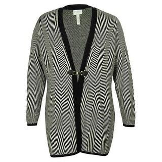 Charter Club Women's Chevron Print Duster Cardigan Sweater