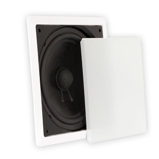 "Theater Solutions TS1000 Passive 10"" Home Theater In Wall Subwoofer Speaker"