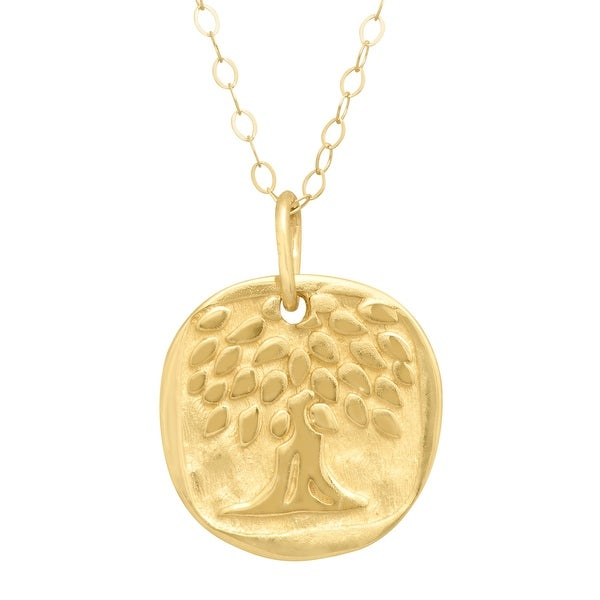 Just Gold Tree of Love Pendant Necklace in 14K Gold