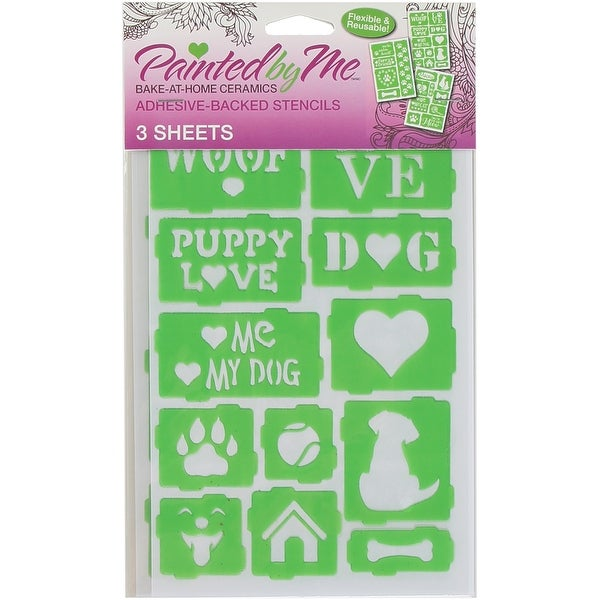 Painted By Me (TM) Bake At Home Stencils 3/Pkg-Pets