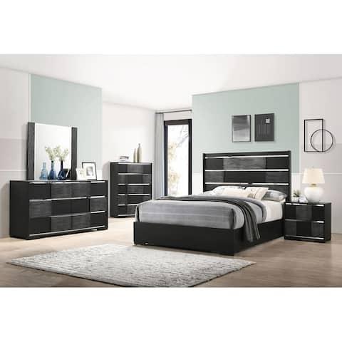 Strick & Bolton Polacheck Black Panel Bedroom Set