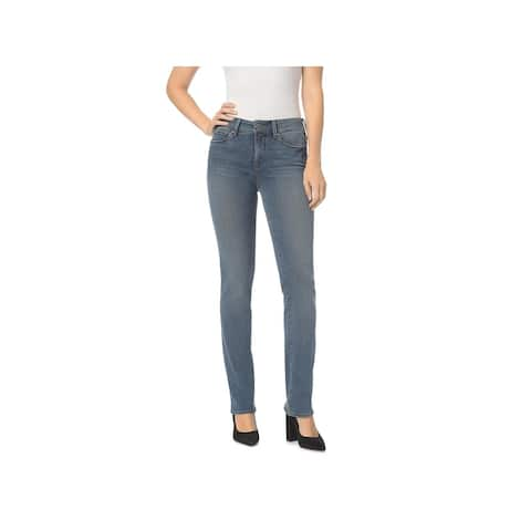 NYDJ Womens Petites Marilyn Straight Leg Jeans Denim Slimming Fit