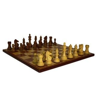 Sheesham Pro Chess Set With Padauk Board - Multicolored