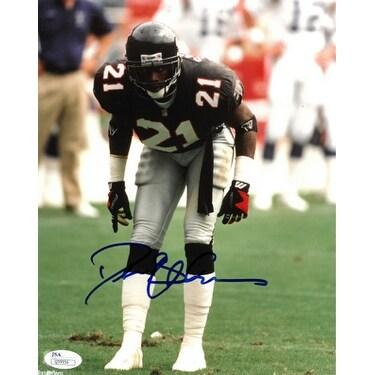 watch bc734 84662 Deion Sanders signed Atlanta Falcons 8X10 Photo JSA Hologram Q59956