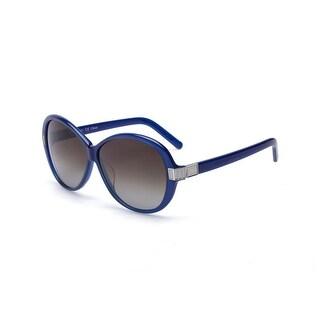 Chloe Women's Square Glam Girl Sunglasses Blue - Small