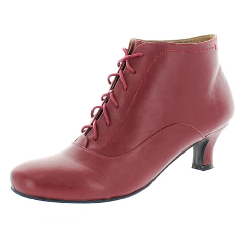 Array Womens Sam Lace-Up Boot Leather Heeled