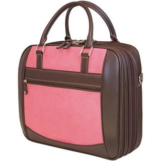 """Mobile Edge 16"""" Pc And 17"""" Macbook Scanfast Element Briefcase (pink Suede)"""