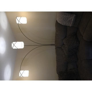 Arched Floor Lamp Behind Couch