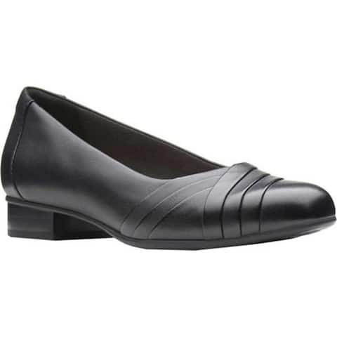 Clarks Women's Juliet Petra Pump Black Leather