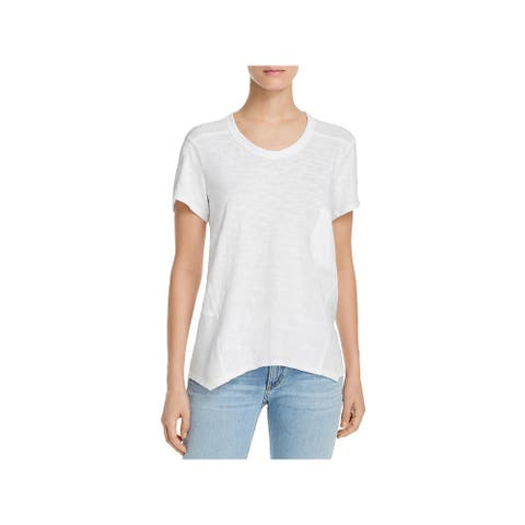 Wilt Womens T-Shirt Asymmetric Pocket - Whit - M