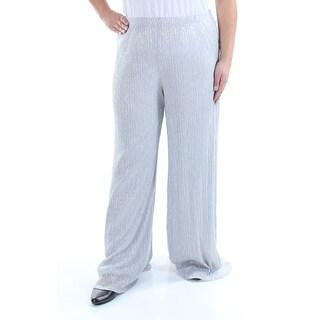 MSK $69 Womens New 1378 Silver Glitter Evening Pants XL B+B