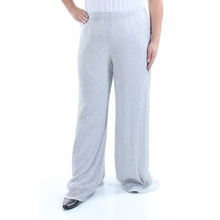 Womens Silver Evening Pants Size XL