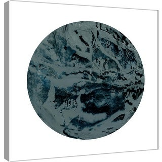 "PTM Images 9-101116  PTM Canvas Collection 12"" x 12"" - ""Painterly Circle on White J"" Giclee Abstract Art Print on Canvas"