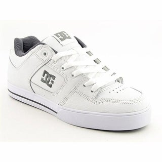 DC Shoes Pure Men Round Toe Leather White Skate Shoe