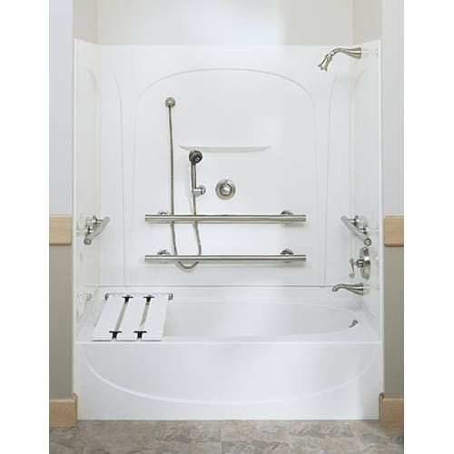Sterling 71091124 Acclain 5 Foot Three Wall Alcove Soaking Tub with ...