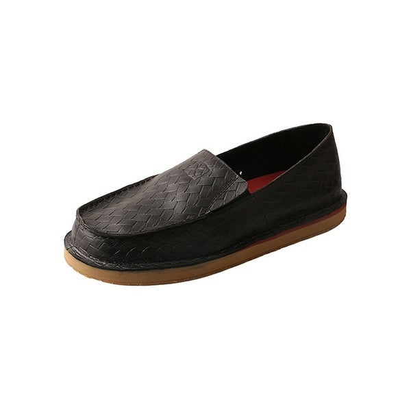 Twisted X Casual Shoe Men Slip On Red Buckle Lightweight Black