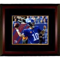 Eli Manning signed New York Giants 8x10 Photo Custom Framed 100th Career Win Steiner Hologram