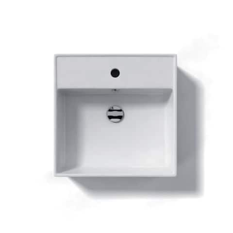 "WS Bath Collections LVQ 803 Ceramica 18-3/10"" Vessel or Wall Mounted - White"