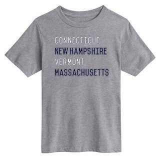 Connecticut New Hampshire Vermont Massachusetts - Youth Short Sleeve Tee