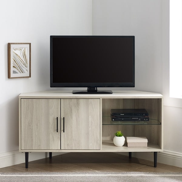 Carson Carrington Esbo 48-inch Corner TV Stand Console. Opens flyout.