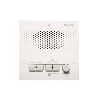 NuTone NRS103 3-Wire Indoor Remote Intercom Station with AM/FM Radio Tuner and 16 Radio Settings