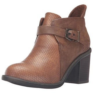 Blowfish Womens Mina Faux Leather Stacked Heel Ankle Boots - 10 medium (b,m)