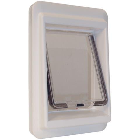 """Ideal Pet Products e-Cat Electromagnetic Cat Door Medium - White - 4.25"""" x 9.25"""" x 14.56"""""""