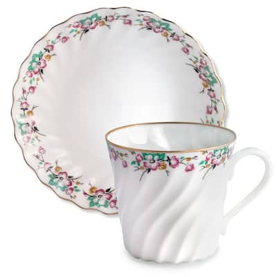Imperial Porcelain Factory Spring Coffee Cup and Caucer Set