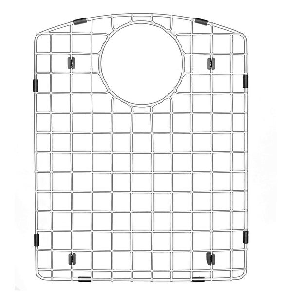 """Karran GR-6010 Stainless Steel Bottom Grid 13-3/8"""" x 16-1/2"""" fits QT-610 and QU-610. Opens flyout."""