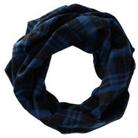 David & Young Women's Plaid Woven Infinity Loop Scarf - One size