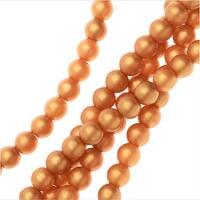 Czech Glass, Round Druk Beads 4mm, 40 Pieces, Matte Metallic Gold