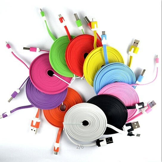 iPhone/iPad 10 Foot Noodle Charger Cables