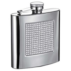 Visol VF6017 Vierkant 6 oz Bling Mirrored Hip Flask with Rhinestones
