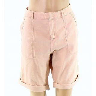 Splendid NEW Pink Womens Size Large L Cargo Bermuda Walking Shorts