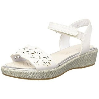 Geox Girls J Sandal Palmas Glitter Slingback Sandals - 6 medium (b,m)