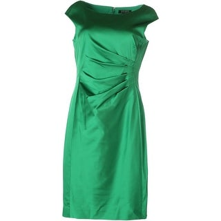 Lauren Ralph Lauren Womens Satin Pleated Wear to Work Dress