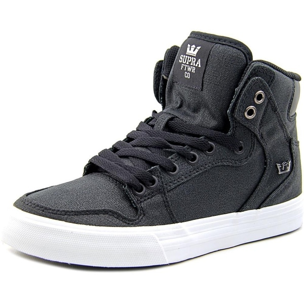 Supra Vaider Men Black-White Skateboarding Shoes