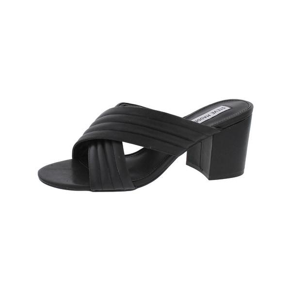3ff7e90efba Shop Steve Madden Womens Icon Dress Sandals Open Toe Block Heel ...